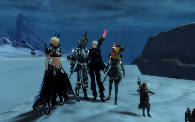 Me and three #twitguild superstars--@AJWolf84, @TriggerSad, and @LadyVerene! <3